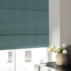 Melanie Teal Blue Roman Blind