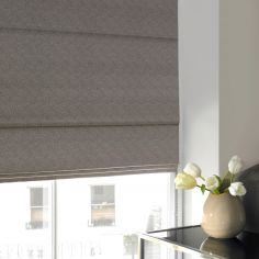 Melanie Fog Black Grey Roman Blind