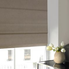Melanie Taupe Natural Roman Blind