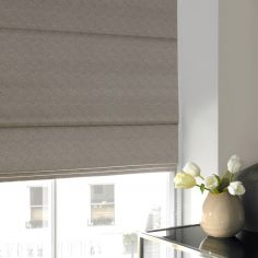 Melanie Earth Black Grey Roman Blind