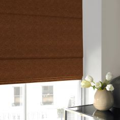 Melanie Rust Red Pink Terracotta Roman Blind