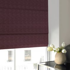 Melanie Mulberry Red Pink Terracotta Roman Blind