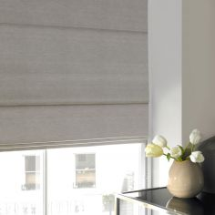 Hadley Dove Black Grey Roman Blind