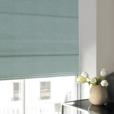 Hadley Ice Blue Roman Blind