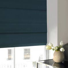 Hadley Teal Blue Roman Blind