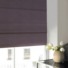 Hadley Flint Purple Roman Blind
