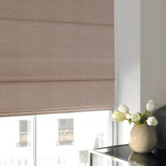 Hadley Rose Red Pink Terracotta Roman Blind