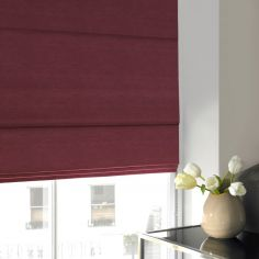 Hadley Mulberry Red Pink Terracotta Roman Blind