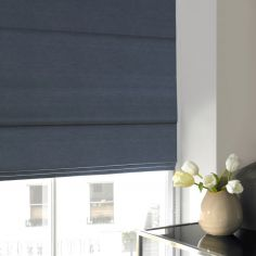 Hadley Steel Blue Roman Blind
