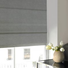 Hadley Mist Black Grey Roman Blind