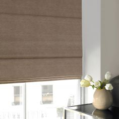 Hadley Otter Natural Roman Blind