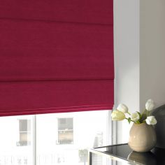 Hadley Fuschia Red Pink Terracotta  Roman Blind