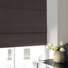 Hadley Grey Black Roman Blind
