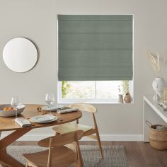 Karina Azure Blue Green Roman Blind