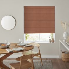 Karina Rust Red Pink Terracotta Roman Blind