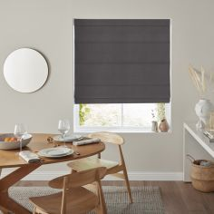 Karina Slate Black Grey Roman Blind