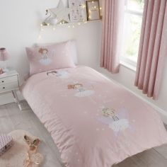 Catherine Lansfield Kids Make A Wish Glow in the Dark Duvet Cover Set - Pink