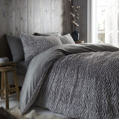 Catherine Lansfield Wolf Duvet Cover Set - Neutral