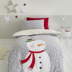Catherine Lansfield Christmas Snowman Duvet Cover Set - Grey