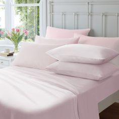 Catherine Lansfield Brushed Cotton Duvet Cover Set - Pink