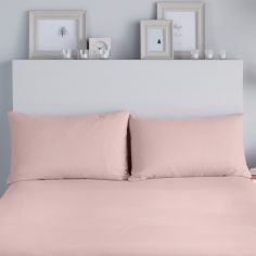 Flannelette 100% Brushed Cotton Pillowcases - Pink