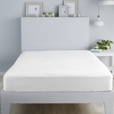 Flannelette 100% Brushed Cotton Fitted Sheet - White