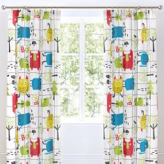 Cosatto Monster Mob Kids Pair of Lined Tape Top Curtains - Multi
