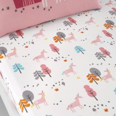 Cosatto Unicorn land Kids Twin Pack Fitted Sheets - Pink Grey