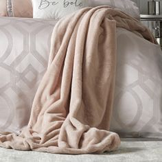 By Caprice Ava Faux Fur Throw - Blush Pink