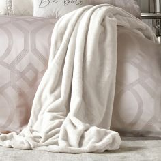 By Caprice Ava Faux Fur Throw - Ivory Cream