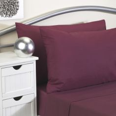 Softguard Flame Retardant Fitted Sheet - Burgundy Purple