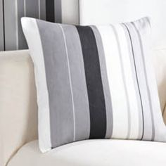Wentworth Stripe Cushion Cover Black