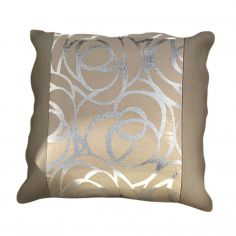 Skye Cushion Cover Natural Silver 45cm x 45cm