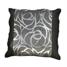 Skye Cushion Cover Black Silver 45cm x 45cm