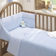 Time To Sleep Cot Quilt and Bumper Set - Blue