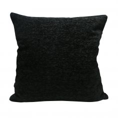 Plain Chenille Cushion Cover 18 Inch - Black