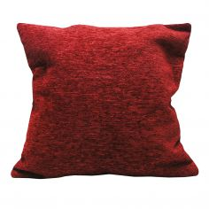 Plain Chenille Cushion Cover 22 Inch - Red