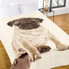 Pug Mink Supersoft Blanket Fleece Throw