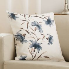 Lily Cushion Cover Black Cream 45cm x 45cm