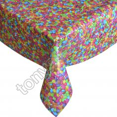 Smarties Plastic Tablecloth Wipe Clean Pvc Vinyl