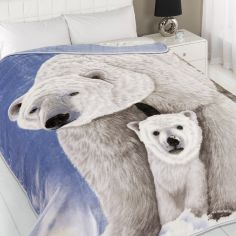 Polar Bear Mink Supersoft Blanket Fleece Throw