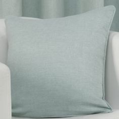 Plain Belmont Duck Egg Blue Cushion Cover
