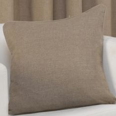 Plain Belmont Taupe Mocha Cushion Cover