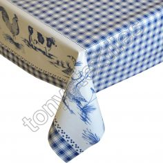 Blue Farm Plastic Tablecloth Wipe Clean Pvc Vinyl