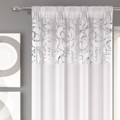 Skye Slot Top Voile Curtain Panel - White