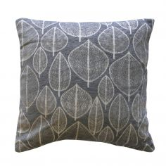 Kirkton Leaf Chenille Cushion Cover - Grey