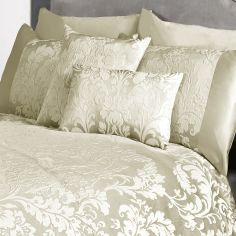 Charleston Jacquard Filled Boudoir Cushion - Cream