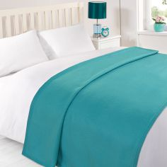 Plain Large Supersoft Fleece Blanket Throw - Teal