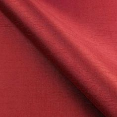 Red Faux Silk Made to Measure Curtains