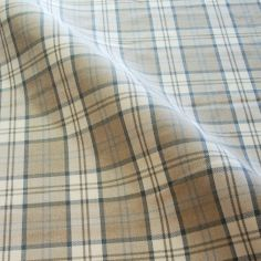 Latte Lewis Tartan Made to Measure Curtains